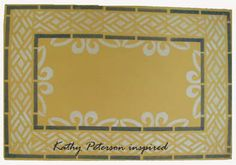 Floor cloth with Kathy Peterson Inspired new stencil collection