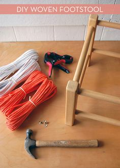 How To: Make Your Own Woven Footstool