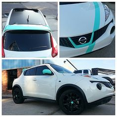 Hooked up a sweet little Nissan Juke today. Tiffany Blue accents, satin black roof and matching satin black powder coated wheels, smoked side markers and headlights. #pgnola , #nissanjuke , #juke , #smokedlights , #tiffanyblue , #tiffanyandco , #tiffany | Flickr - Photo Sharing!