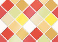 "Kitchen Tile Decal Tile Stickers Set ""Retro"" for bathroom or kitchen"