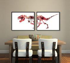 Good Dinosaurier Kunst f r Kids Dinosaurier Decor Dinosaurier Kinderzimmer Wall Art Prints Dino Kunst Drucke w hlen Sie Ihre Farben x Set drei