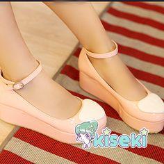Puffy Heart Platform Shoe - Kawaii, Fairy Kei, Sweet Lolita, Harajuku, Ulzzang - FREE SHIPPING · Kiseki · Online Store Powered by Storenvy