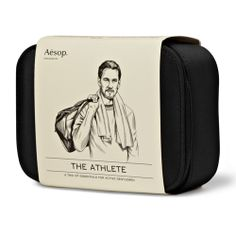 """Six Menswear Experts Tell You What to Get the Dudes in Your Life This Holiday Season: Jodie: """"For the guy who appreciates attention to detail, this Aesop Athlete Grooming kit -- exclusively produced for MR PORTER -- contains three gym essentials and comes in a durable case that will travel easily in his gym bag."""" Aesop Athlete Grooming, $120, at MrPorter.com."""