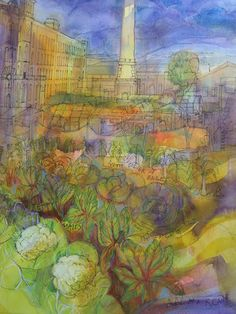 Ann Davies is opening her studio at the Butterfly rooms Saltaire.  Pen and ink and watercolours combine in pieces such as this one of Salts Mill.  28th to 30th May 2016