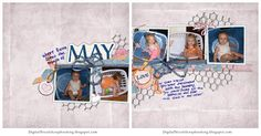 double page scrapbook layout