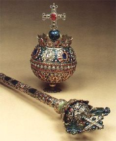 Scepter and Orb of Tsar Alexis, Russian Crown Jewels