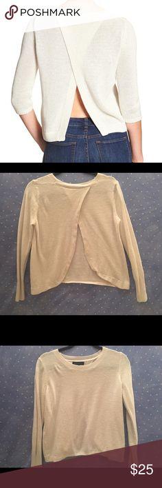 Banana Republic Split Back Sweater Size small. Great condition. Banana Republic Sweaters Crew & Scoop Necks