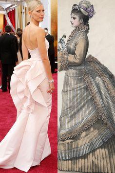 The bustle made a comeback on Karolina Kurkova's Marchesa gown.   - HarpersBAZAAR.com