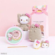 Cross Stitch Needles, Cross Stitch Kits, Knitting Kits, Cute Diys, Pusheen, Stitch Markers, Craft Kits, Kids Gifts, Hello Kitty