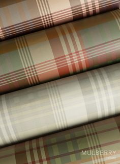 Mulberry Ancient Tartan from the Bohemian Wallpaper Collection by Mulberry Home.