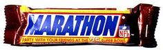 Marathon bars, before they were re-named Snickers.