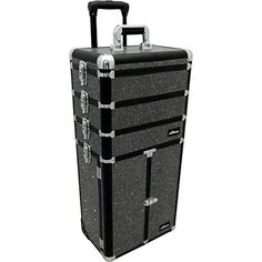 Sunrise I3366 Professional 4-in-1 Rolling Makeup Artist Cosmetic Train Case Organizer Storage, Krystal Black * You can find out more details at the link of the image.