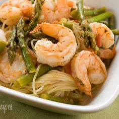 Angel Hair with Shrimp and Asparagus Recipe