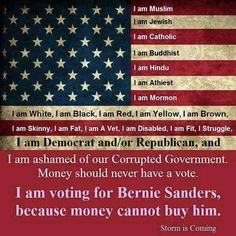 The BIGGEST reason to vote for Bernie, no matter who you are! VOTE FOR BERNIE! #FeeltheBern