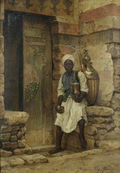 A Nubian Boy - Arthur von Ferraris 19th century