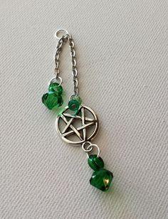 green dream catcher pentagram vape charm by DoubleHelixDesigns, $6.99