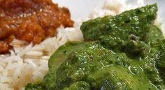 Receta de la India, Vegetariana, de papas, espinaca y crema. Deliciosa!