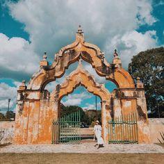 Hacienda Yaxcopoil Yucatan Travel Couple, Merida, Couple Goals, Photo Credit, Taj Mahal, Scene, Building, Life, Colonial