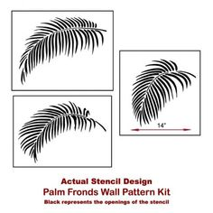 Palm Fronds 3 Piece Stencil Kit Stencil Kit for Quick and | Etsy