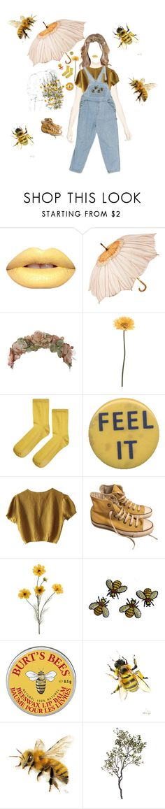 """""""The bees knees"""" by shay-heid ❤ liked on Polyvore featuring Her Curious Nature, Gerber, Topshop, Schumacher, Converse and Crate and Barrel"""