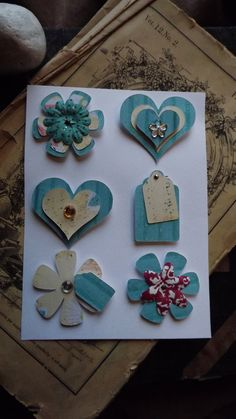 embellishments. Turquoise and vanilla with a kick of rose?