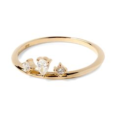 Phalange ring diamonds K18 gold 1401-PAR27 e.m. #em #phalangering #midiring #diamonds #gold