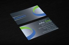 Creative corporate business card design suitable for any kind of business. This design is available for free download as Adobe Photoshop (PSD) file.