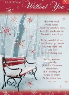 I miss you more at Christmas time.