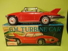 DEALER-RITA Old Japanese GM Turbine Mini Mint Car Vehicle Japan Tin Toy #Cragstan