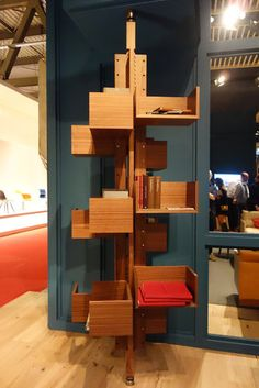re-edition of a rotating adjustable bookshelf from the 50s.   The Top 10 Moments at Milan Design Week - NYTimes.com