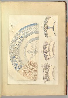 Six Designs for Decorated Plates, 1845–55 Alfred Henry Forrester [Alfred Crowquill] (British, London 1804–1872 London) Patron: Probably commissioned by Samuel Alcock & Company (British, active ca. 1828–1859) Pen and ink, and watercolor, sheet: 42.5 x 29 cm The Metropolitan Museum of Art, 56.527(12)
