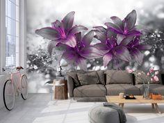 Papier peint Secret of the Lily Artgeist Multiple Canvas Art, Vintage Poster, Mural Wall Art, Hanging Curtains, Flower Prints, Vintage Cars, Vibrant Colors, Photo Wall, Textiles