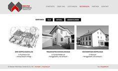 Webseiten Gestaltung: Meister Wohnbau by Andy Kopp, via Behance