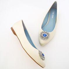 Ivory Flat Wedding Shoes Jackie By Bella Belle