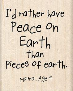 - Peace on Earth