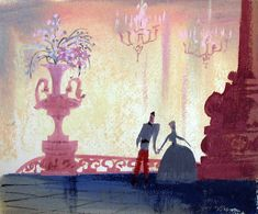 Past - Cinderella concept art by Mary Blair (Mary Blair, 1950)