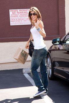 Blue converse, baggy jeans... she won