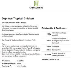 Daphnes Tropical Chicken