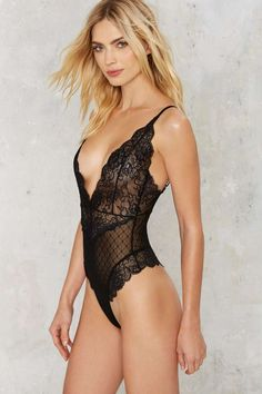 Nasty Gal Now You See Me Lace Bodysuit - Clothes | Best Sellers | Bustiers + Bodysuits | Lingerie
