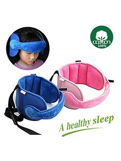 Blue Child Car Seat Adjustable Head Support Sleep Tape Safety Nap Child Aid Kid Holder Protector A Comfortable Safe Sleep Belt Solution