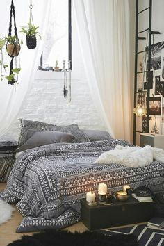 Magical Thinking woodblock comforter