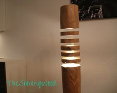 HAND MADE hard wooden floor lamp - floor lamp made of solid wood…