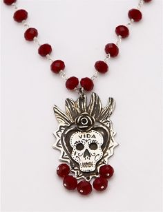 Dia De Los Muertos Wedding Necklace