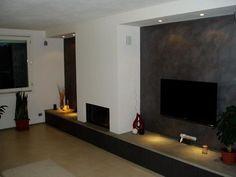 Risultati immagini per inserti a pellet da cartongesso Decor, Tv Wall, Tv Wall Unit, Home, Flat Screen, Wall, Fireplace, Wall Unit