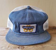 38bfff8b3a958 Vintage 80s LABATT S LITE AWARD BEER Denim Mesh Trucker Hat Snapback Cap K  Brand  KBrand