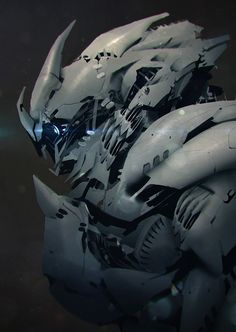 """cyberclays: """" Robot portraits - by George Stratulat """""""