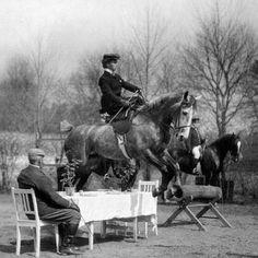 Queen Alexandra jumping a table