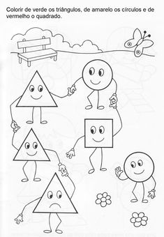Shape Worksheets For Preschool, Shapes Worksheets, Preschool Activities, Art Drawings For Kids, Drawing For Kids, English Lessons For Kids, Drawing Sheet, Family Theme, Toddler Classroom
