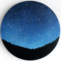 NIght Sky Oil Painting.