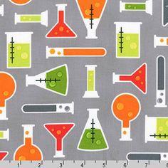 Science Fair Fabric - Gray